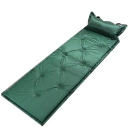 Wholesale Automatic Inflatable Mat Cushion Single Can Be Joint Sleeping Mat Camping Sleeping Pad with Pillow Camping Hiking Equipment