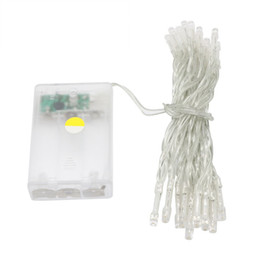 Discount christmas lights - 3XAA Battery 40LEDs Mini LED Fairy String Garden Party Christmas Lights White Warm White Pink Purple Blue Muti-Color