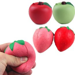 $enCountryForm.capitalKeyWord UK - 200pcs EMS 2017 Red Squishy Strawberry Apple Decompression Anxiety Toys Cell Phone Charms Pendant Strap Artificial Slow Rising Toy in stock