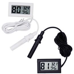 100 unids Digital LCD Interior Conveniente Sensor de Temperatura Medidor de Humedad Termómetro Higrómetro Calibrador Descuento Grande