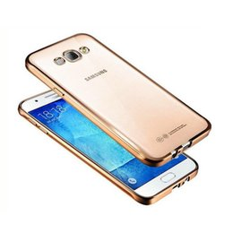 Crystal Clear Phone Cases NZ - For Samsung a8 2018 A7 2017 Luxury Ultra Thin Clear Crystal Rubber Plating Electroplating TPU Soft Mobile Phone Case