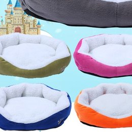Discount mini cat figures - Candy Color Pet Nest Square Kennel Warm Sofa Mini Autumn And Winter Doghouse Luxury Doghole Pets Cat Beds Cashmere Washa