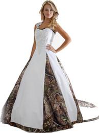 Ingrosso 2017 abiti da sposa camouflage con appliques ball gown lungo camo wedding party dress abiti da sposa in stcok WD1013