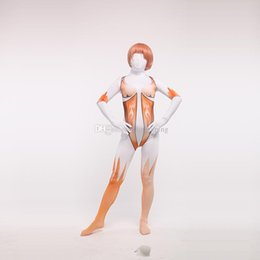 Sexy Bodysuit Halloween Costume NZ - Free Shipping Attack on Titan Sexy Female Zentai Bodysuit Halloween Cosplay Zentai Catsuit Costumes