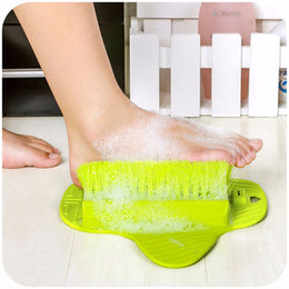 foot scrubbers wholesale Canada - Foot Massage Brush Bath Blossom Scrub Rubbing Brushes Exfoliating Feet Scrubber Spa Shower Remove Sole Dead Skin Cleaning Brush