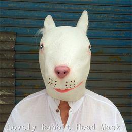 Latex rabbit mask online shopping - Top Grade Funny Lovely Rabbit Masks Carnival Cosplay Animal Head Party Masks Latex Halloween Costume Full Head Rabbit Head Mask Fancy Dress