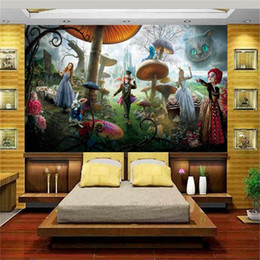 Custom Size 3d Photo Wallpaper Living Room Kids Mural Alice In Wonderland  3d Painting Background Non Woven Wallpaper For Wall 3d Part 41