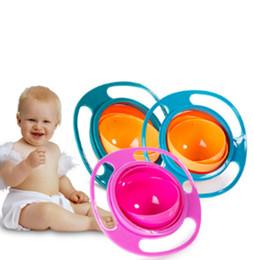 Pratico Bambino Bambino Non Spil Alimentazione Bambino Gyro Bowl 360 Rotante Bambino Evitare Cibo Versare Bambini Ciotola Creazione Come Alimentazione in Offerta