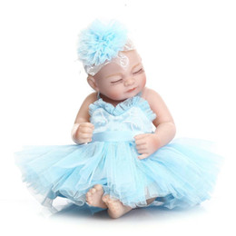 doll fashion wedding dress Australia - 10Inch Wedding Dress Silicone Reborn Baby Doll Realistic Bebe Reborn Babies Toy Gift for Girls