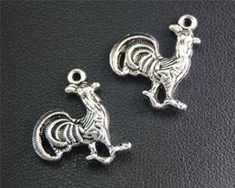 Bite Faite Main Pas Cher-20pcs Antique Sliver Cock Charm Handmade Charms Pendentifs Jewelry Findings 20x13mm A2053