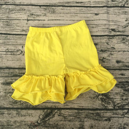 $enCountryForm.capitalKeyWord NZ - Wholesale baby girl double ruffle shorts kids comfertable candy color children boutique shorts