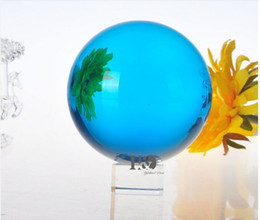 $enCountryForm.capitalKeyWord NZ - 50mm piece Rare Lt Blue Crystal Good Mood Ball Glass Shinning Ball Crystal Sphere With Crystal Stand