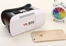 50pcs / lot Fuente de la fábrica 3D Head Mount VR Box 1ª generación Virtual realidad vr gafas Bluetooth Remote Control