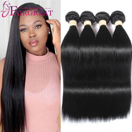 Best Unprocessed Human Hair Extensions Canada - Brazilian Straight Human Hair Weaves 4 Bundles Unprocessed Human Hair Extensions 10-26inch Brazilian Human hair Weave Bundles Best Quality