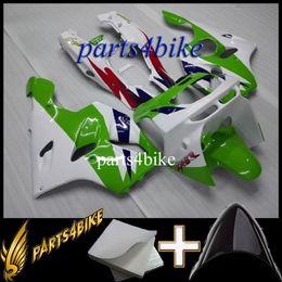 Kawasaki Ninja Orange Plastic Kit Canada - Aftermarket Plastic ABS Fairing for Kawasaki ZX6R 94 97 ZX-6R 1994-1997 94 95 96 97 green white Motorcycle Body Kit