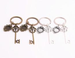 $enCountryForm.capitalKeyWord NZ - SWEET BELL 3pcs lot Metal Alloy Zinc Key Chain Fit Round 12.5mm Cabochon Base Key Charm Pendant Jewelry Making C0897