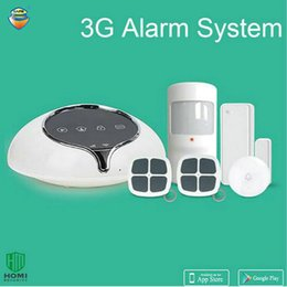 online shopping 3G WCDMA Wireless Alarm system Home security intruder sensor anti burglar support APP Door bell function Full band