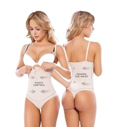 Barato Látex G-Atacado- NINGMI Lady Tummy Control Underbust Cintura Slim Latex Shapewear Body Shaper Controle Belly Cincher Firm G-string Panties Bodysuits