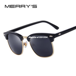 Dhgate branDeD sunglasses online shopping - dhgate Men Retro Rivet Polarized Sunglasses Classic Brand Designer Unisex Sunglasses UV400 Fashion Male Eyewear