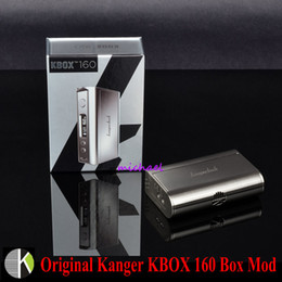 2018 ss power Wholesale-100% Original Kangertech KBOX 160 Kanger 160W TC VV VW Box Mod Supports Ni Ti SS NiCr Powered by Two 18650 Batteries in Stock discount ss power