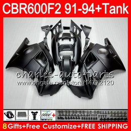 Chinese  matte black 8 Gifts 23 Colors For HONDA CBR600F2 91 92 93 94 CBR600RR FS 1HM5 CBR 600F2 600 F2 CBR600 F2 1991 1992 1993 1994 black Fairing manufacturers