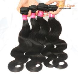 Discount grade 7a hair weave - Virgin Brazilian Body Wave Hair Weaves Remy Human Weft Body Wavy Hair Extensions Grade 7A Mink Brazilian Hair Bundles Ca