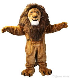 lion cartoons Canada - Majestic Lion Character Cartoon Mascot Costume Adult Size Christmas Costume Fancy Dres