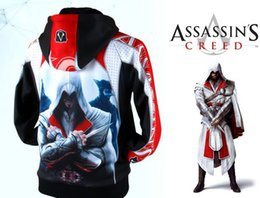 Assassins Creed New Hoodie Pas Cher-Vente en gros-2014 Nouveau Livraison gratuite Creed Cosplay Coton Hoodies Assassin Manteau Cool Sweatshirts Anime Jeu Produits