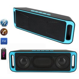 portable usb flash NZ - SC208 SC-208 Portable Wireless Bluetooth Speaker Hands-free USB Flash FM Radio Stereo MP3 Player Support TF Card 10pcs lot