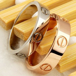 Nails chiNa online shopping - 316L Titanium steel nails rings lovers Band Rings Size for Women and Men in mm mm width brand jewelry Hot Sale