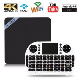 M8s Android Tv Boxes Australia - Mini M8S II Smart TV Box 4K Amlogic S905X Quad Core Android 6.0 2.4GHz WiFi BT 4.0 Media Player 2GB 8GB Set-top Box
