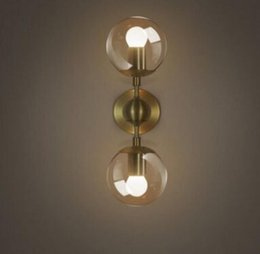 gold modo wall lamp modern wall sconce modo wall light glass shade lighting iron fixture 1 globe 2 globes golden color llfa discount modern gold wall