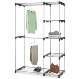 Шкаф Организатор Хранения Стойки Портативный Вешалка Для Одежды Главная Полка Одежды