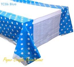 Good Wholesale 108*180cm Power Blue Polka Dots Rectangle Plastic Tablecloths  Table Cover Wedding Boys Birthday Party Decorations Cheap Plastic Rectangle  ...