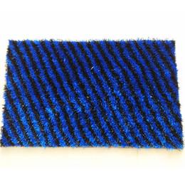 Bathroom Mats Blue And Black Microfiber Thread Kitchen Door Washable Mat Living Room Coffee Table Carpet
