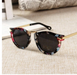 Baby Mirrored Glasses Canada - Baby Boys Girls Kids Sunglasses Vintage Round Sun Glasses Children Arrow Glass 100%UV Protection Oculos De Sol Gafas