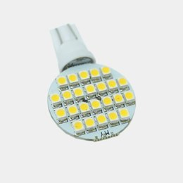 $enCountryForm.capitalKeyWord Canada - LEEWA 50pcs Warm White Circle Panel 12V T10 194 1210 3528-24SMD LED Car Bulb Lamp #3961