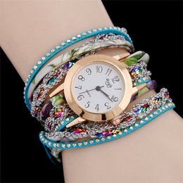 $enCountryForm.capitalKeyWord NZ - The new fashion bracelet watch winding female discus ms candy color silver belt quartz watch