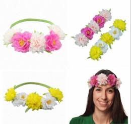 $enCountryForm.capitalKeyWord UK - Chic Bridal Halo Double Color Flower Stretch Crown Bridal Floral Wreath Wedding Hair Wreath Bridal Floral Head Crown