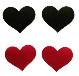 4 цвета сосок охватывает форму сердца Безопасность защиты окружающей среды сиська ленты соски наклейки пасты 10pairs / lot