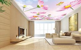 $enCountryForm.capitalKeyWord NZ - custom wallpaper for ceilings Pink Gesang Flower 3d photo ceiling wallpaper for living room 3d ceiling murals wallpaper