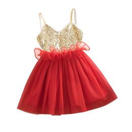 $enCountryForm.capitalKeyWord UK - New Princess Girls Kids Baby Sequins Wedding Tulle Tutu Dress Sundress Toddler Girl Party Dress LS4