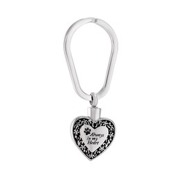 $enCountryForm.capitalKeyWord UK - Always In My Heart Cremation Urn Pendant Pet Urn Memorial Ash Keepsake Holder Urns Key Chain Cremation Jewelry For Ashes Keyring Jewelry