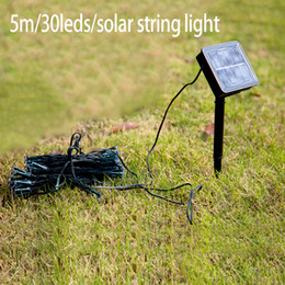 power fairy string lights 5m 30 led christmas tree lights decorative outdoor garden lawn patio wedding party