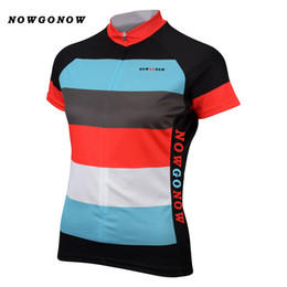 custom bike wear Canada - Can custom 2017 cycling jersey women colorful clothing bike wear NOWGONOW tops road mountain Triathlon summer Maillot Ciclismo girl lady