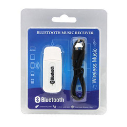 China Double Output USB Wireless Bluetooth 3.5mm Music Audio Car Handsfree Receiver Adapter USB Dongle 3.5mm Stereo Music Receiver for Speakers cheap usb bluetooth wireless dongle adapter suppliers