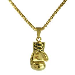 $enCountryForm.capitalKeyWord Canada - women 18K Gold GF Stainless steel boxing glove Pendant Free chain necklace N216B