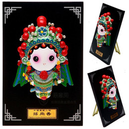 $enCountryForm.capitalKeyWord Canada - Cartoon Figurine plate three characters Sun Shangxiang Peking opera characters decoration characteristics of small gifts gifts of Foreign Af
