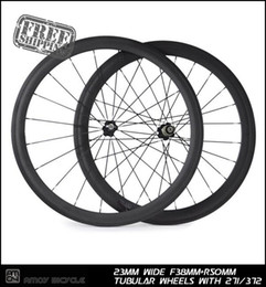 wheels 38 Australia - 38+50 Tubular Carbon wheels 23mm wide Front 38mm rear 50mm with Novatec 271 372 hub full carbon 700C road bike wheelset