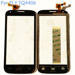 Wholesale Black Touch Sensor For Fly IQ4406 ERA Nano Touch Screen Digitizer Touch Glass Sensor Repair Part Panel Free Sticker